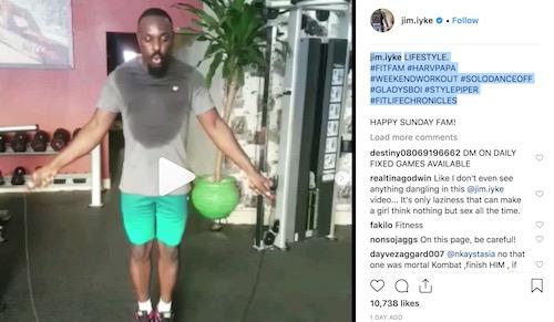 Jim Iyke's post on IG that got female fan a clap-back