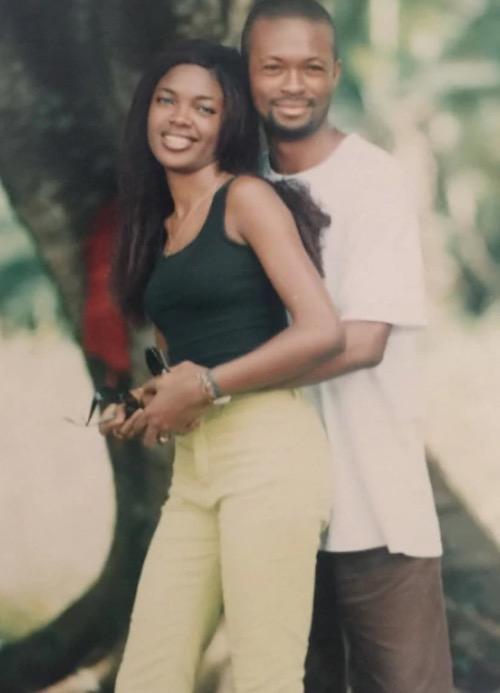Omoni Oboli and husband, Nnamdi throwback photo