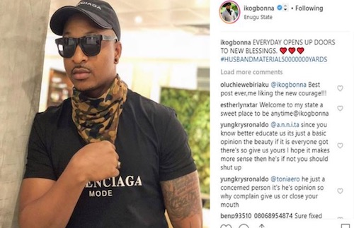 IK Ogbonna's post on Instagram about being husband material
