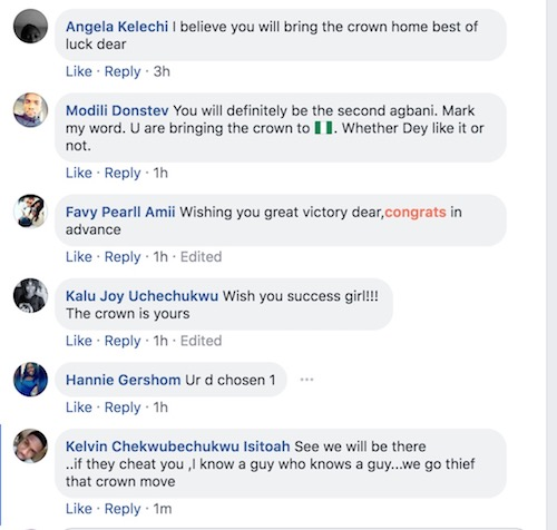 Anita Ukah post on Facebook - the reactions