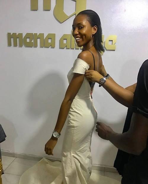Anita Ukah testing her clothes