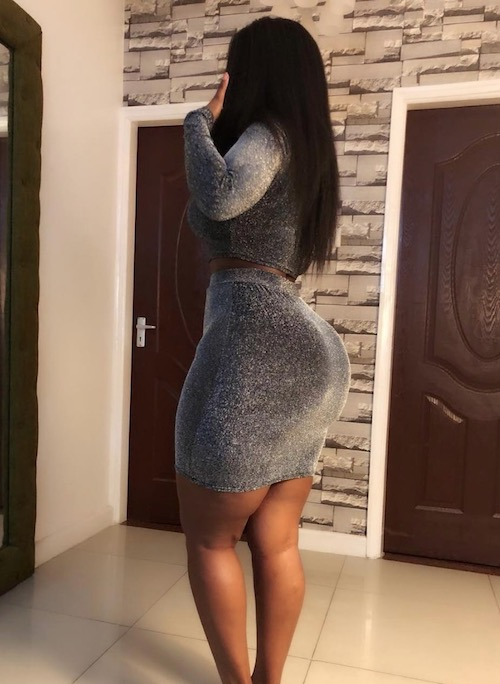 Corazon Kwamboka shows her shape