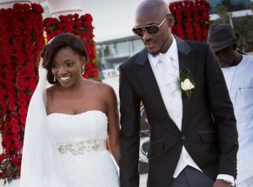 2face and Annie wedding photo