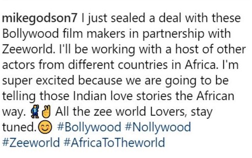 Mike Godson to star in Bollywood movies