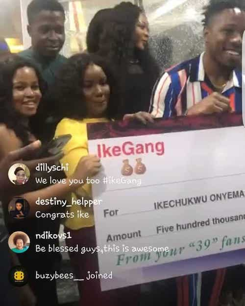 ike gets endorsement from fans