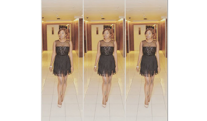 Annie Idibia's second outfit to 2Face's fortyfied after party - theinfong.com 700x409