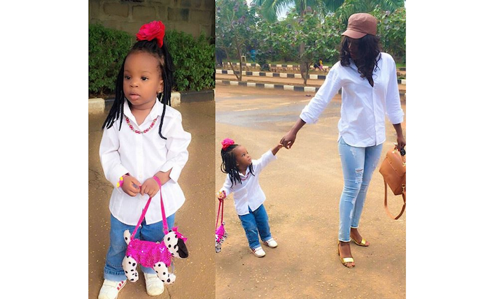Lovely pictures of actress Chacha Ekeh and her lil angel, Kamara theinfong.com 700x428