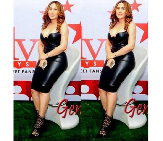 Caroline Danjuma shows off her curves