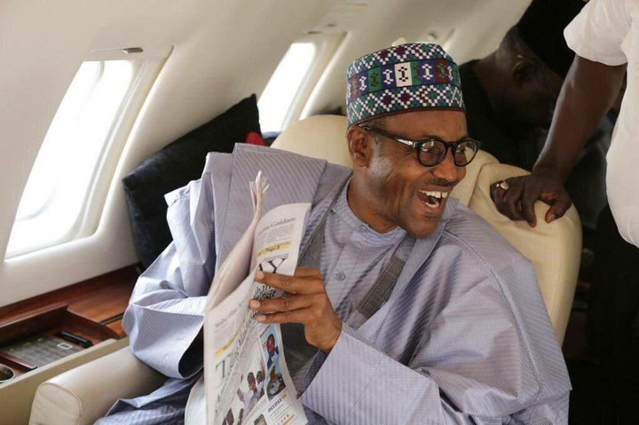 President-Muhammadu-Buhari-aboard-Presidential-Jet