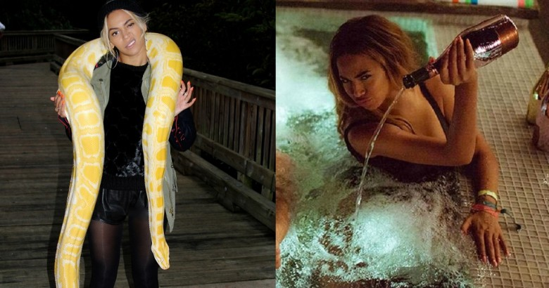 Beyonce-is-not-afraid-of-snakes1-1