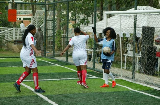 Kick against rape football match