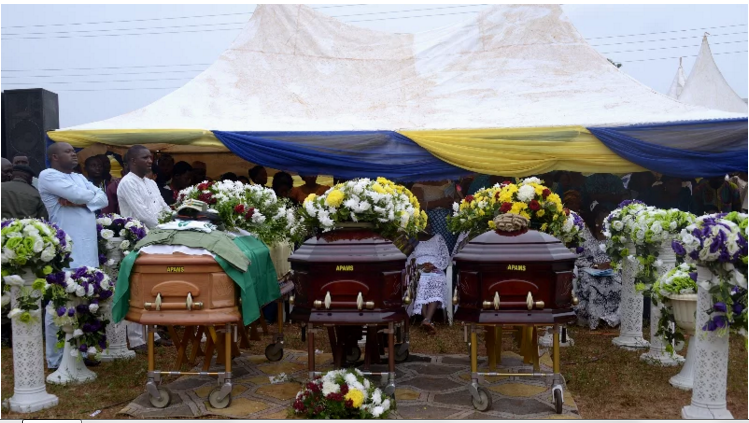 Touching photos from James Ocholi burial