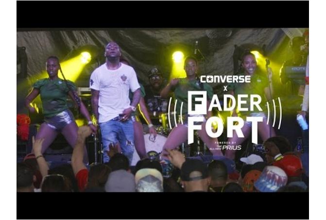 """Watch Davido perform """"Aye"""" at the FADER FORT"""