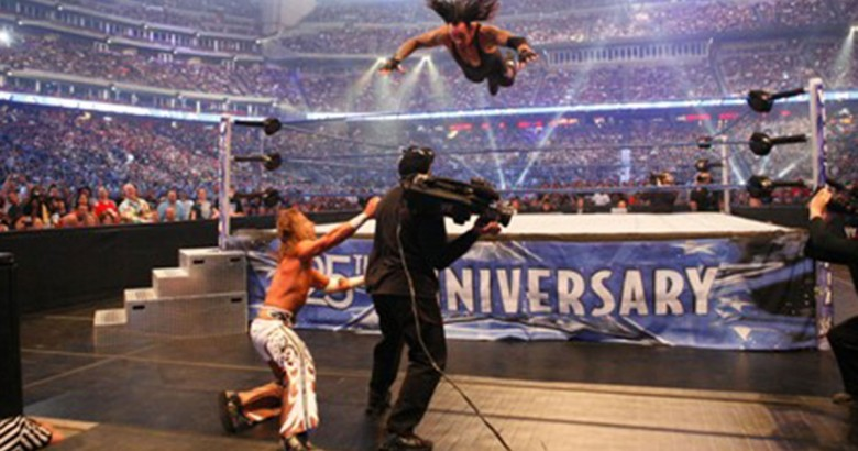 pictures of The undertaker from each WrestleMania