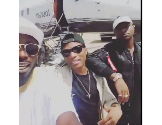 Davido and Wizkid fly private jet together
