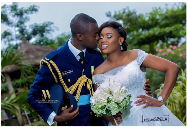 Romantic pictures of military weddings in Nigeria
