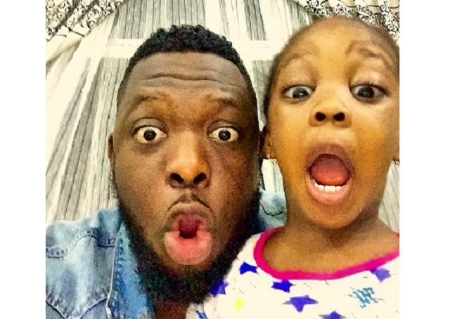 Photos of Timaya and his daughter