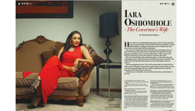Lara Oshiomole looks breathtakingly beautiful