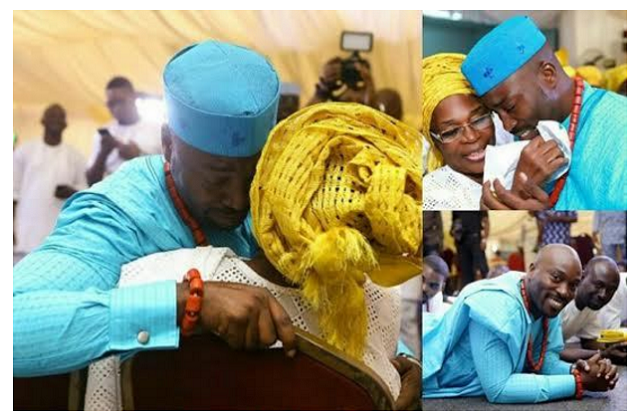 Seun Akindele cried uncontrollably at his wedding