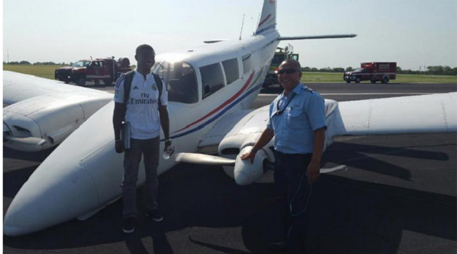 Patos Oghenevwede lands plane without front tyre
