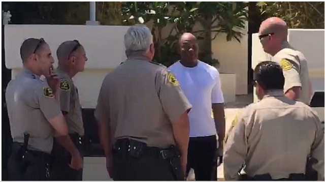 Dr. Dre arrested and handcuffed by police