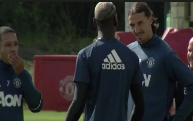 Watch Pogba's first training with Manchester United