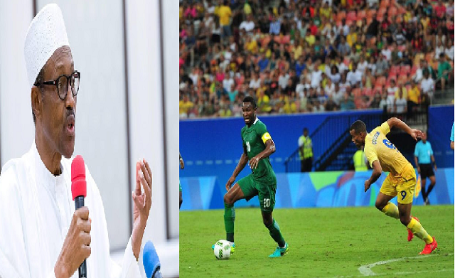 Buhari's reaction to Nigeria's win against Denmark-TheinfoNG