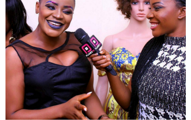 Uche Ogbodo shows off her punk hairstyle