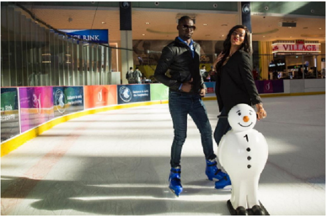 Chris Attoh with his beautiful wife Damilola