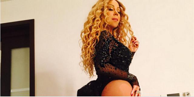 Mariah Carey bares her butt
