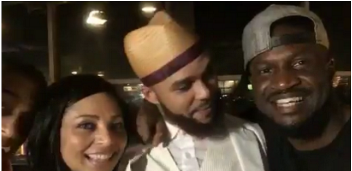 Lola and Peter Okoye hang out with singer Jidenna