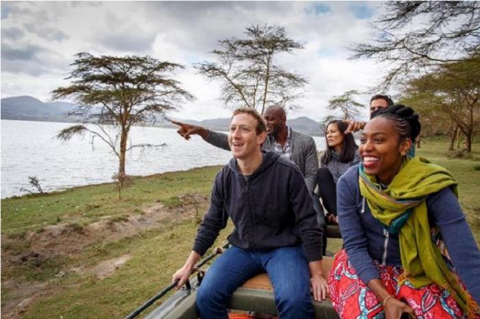 Mark Zuckerberg goes on a wildlife tour in Kenya