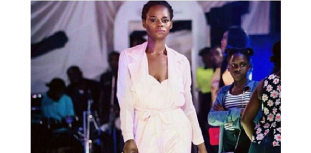 Stunning photo of bread seller turned model Olajumoke Orisaguna gracing the runway