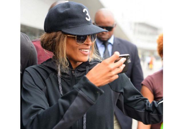 Ciara arrives Lagos