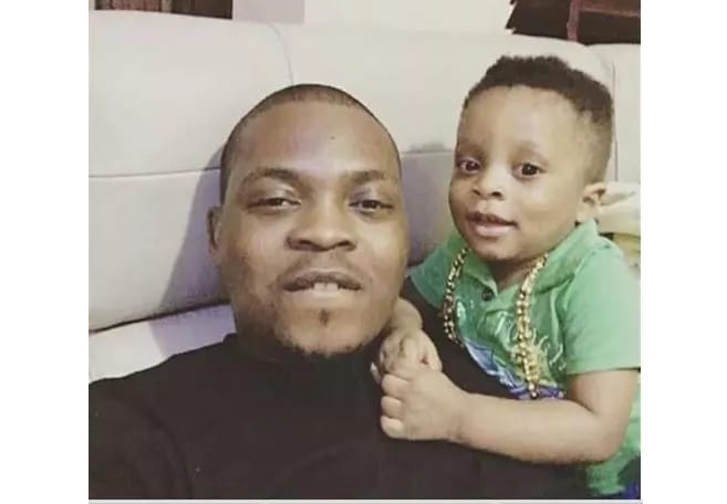 6 Photos showing what Olamide's son is growing into