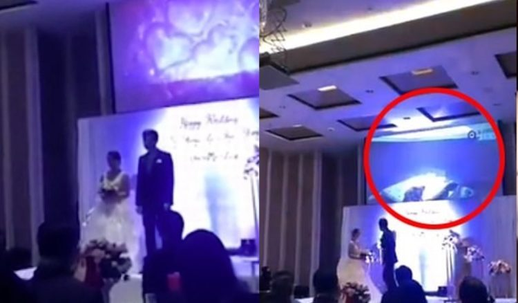 Groom plays video of his bride having sex with another man