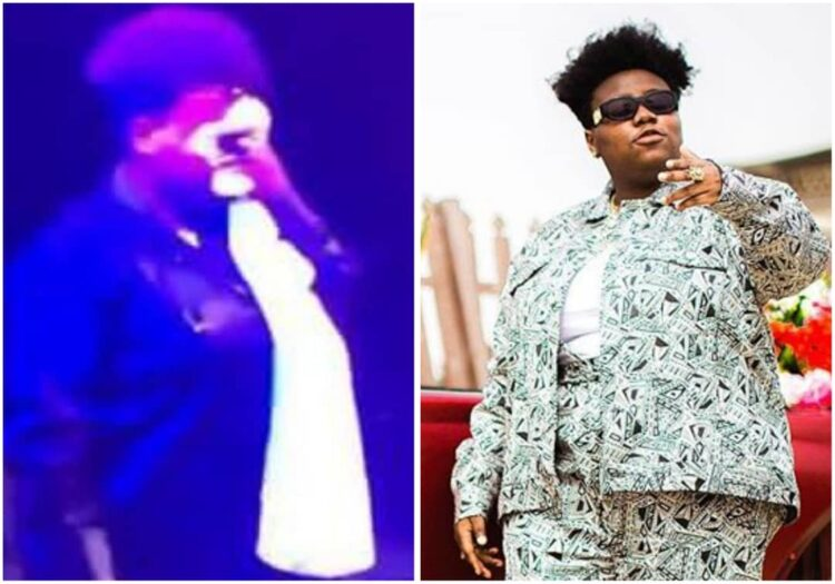 Moment Teni got emotional and cried on stage during her show in London (Video)
