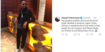 The greatest problem now is that there is no peace anywhere in the world – D'banj declares