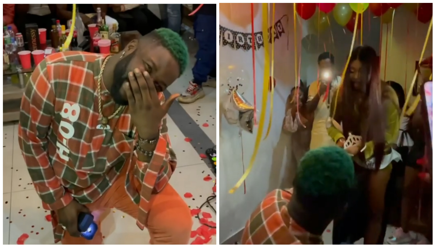 She said yes - Singer, Skales proposes to girlfriend (Video) | Theinfong