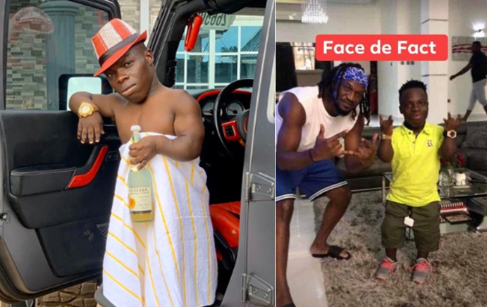 Ghanaian Millionaire Shatta Bandle in Nigeria, visits Paul Okoye's mansion