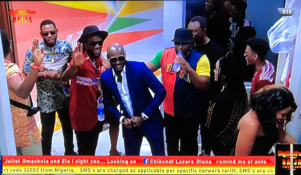 2Face Idibia pays surprise visit to the housemates