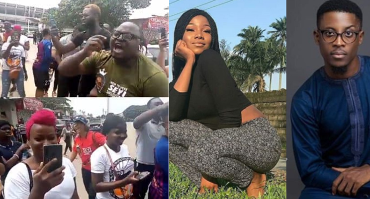 Tacha's fans clash with Seyi's fans in Surulere, Lagos (Video)