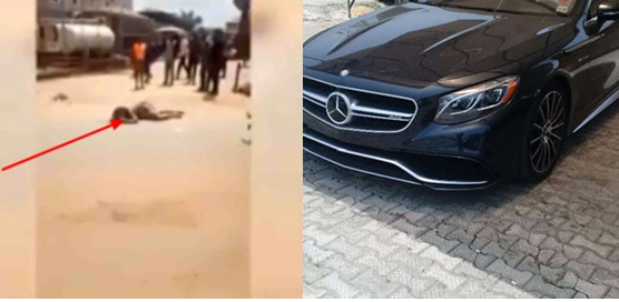 Lady runs mad after alighting from Benz in Anambra (Video)