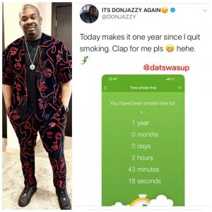 Don Jazzy smoking