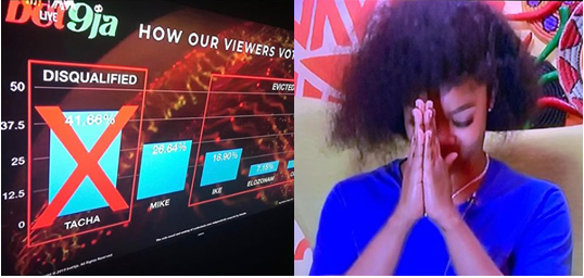 Tacha reacts to tonight's evictions - See what she said