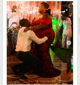 Adorable photos of Ghanaian man with his plus-size bride