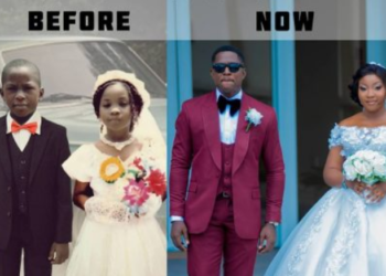 Couple who served as little bride and page boy, gets married