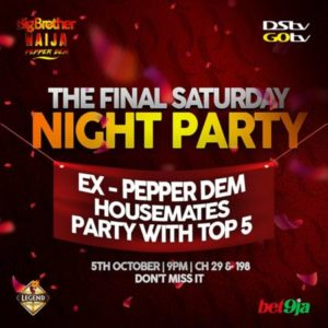 Evicted housemates party LIVE with top 5 finalists