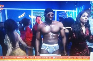 Tuoyo strips down to panties at final Saturday Night Party