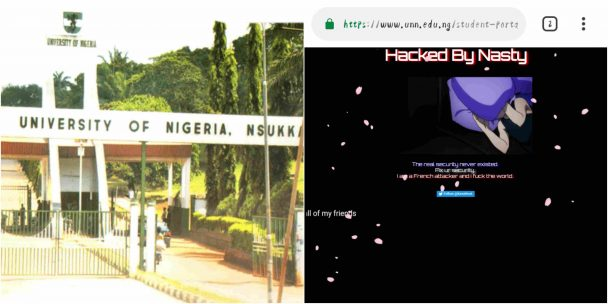 University Of Nigeria Nsukka, UNN website hacked by French hacker